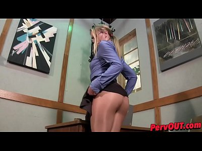 Pov Cream Pie video: Sexually Harassed by Riley Reyes CEI PANTYHOSE