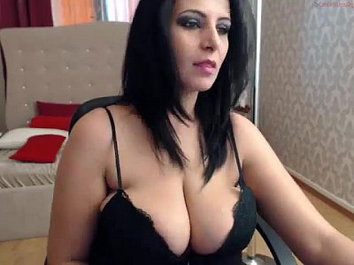 Saggy tits on webcam