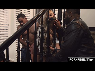 Interracial Pornstar Threesome video: PORNFIDELITY Nina Elle Bred By Two Black Cocks
