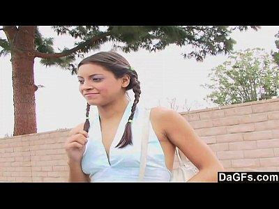 Peliculas de Sexo schoolgirl picked up and fucked hard