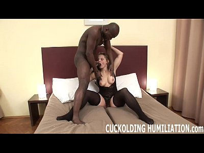 Black Wife Slave video: Im going to swallow his cum right in front of you
