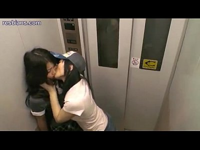 White elevator hot sex clip