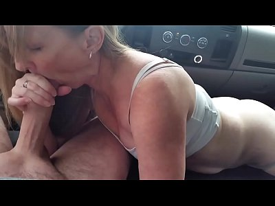 Blond Blowjob In A Car
