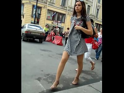 Faldas Arriba Increible upskirt corto pero que vista