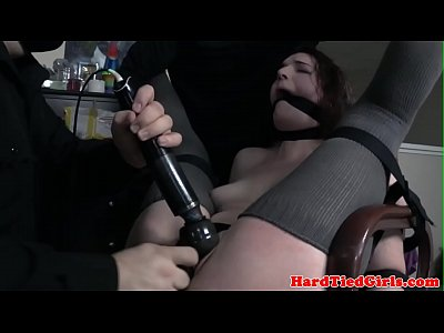 Submissive pounded harshly by two masked doms 10