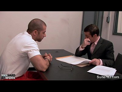 Video Gay Sexy gay gets ass fucked at interview