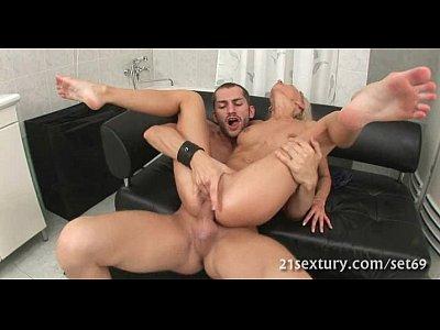 One slutty pretty babe sucks cock