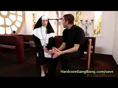 Catholic nun gangbanged by priests Part 2