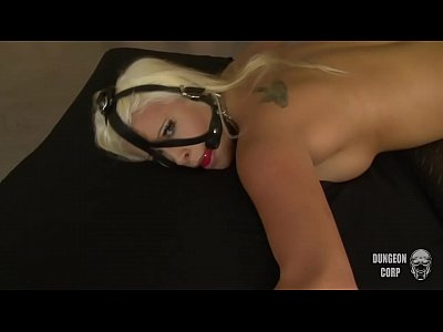 Anal Bdsm Blonde video: Blonde Jess abused and anal hooked