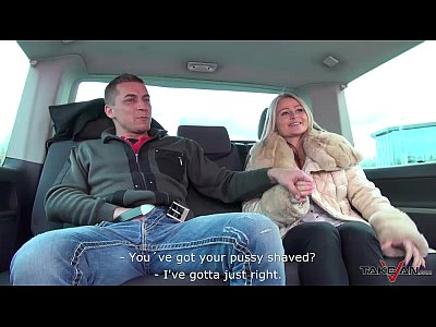 Czech Public Blonde video: Stepmom get three young dicks in van ride