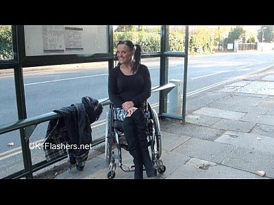Paraprincess outdoor exhibitionism and flashing wheelchair bound babe show 3