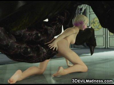 Fetish Fucked girl mutated plant