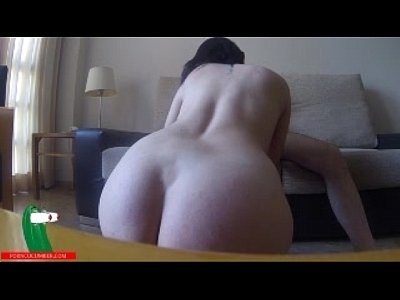 Spanking Pov Teen video: His sister fucks on the sofa in the dining room