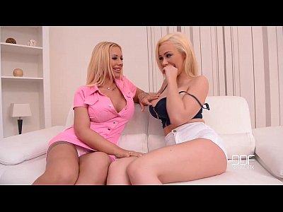 Blonde Threesome Glamour video: DDF Busty Busty nymphos fuck plumber with monster dick