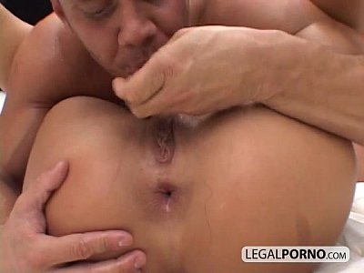 A guy with huge dick fucking a cute brunette very hard NL-1-02