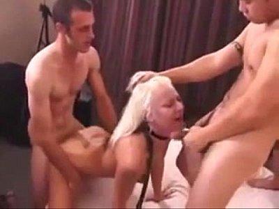 blonde enjoys a great gangbang