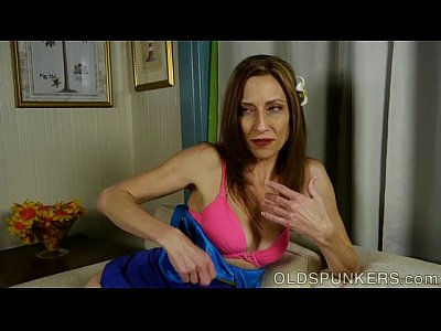 image Lovely leggy old spunker imagines you were fucking her pussy