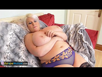 image Europemature old chubby sami plays with big t