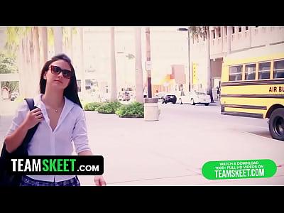 InnocentHigh Ass fucking skinny schoolgirl in the classroom