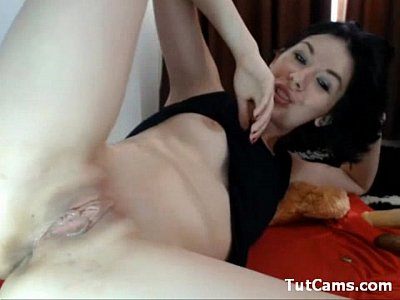 Exotic brunette fingering for a camera
