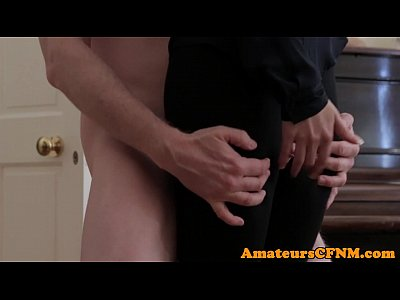 Porno video: British cfnm femdom dick grinding in thighgap