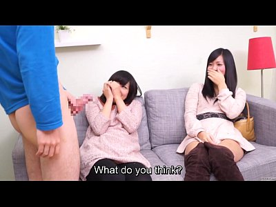 Subtitled CFNM Japanese friend watches surprise...