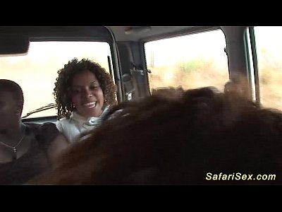 Black Ebony Fetish video: backseat jeep fuck at my safari sex tour