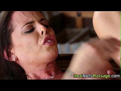 Massage Fetish Handjob video: Juggs masseuse bang wam