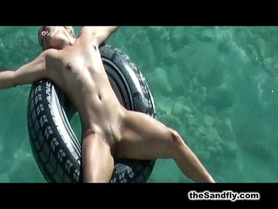 Babes Beach Blowjob video: theSandfly Naked Beach Secrets!
