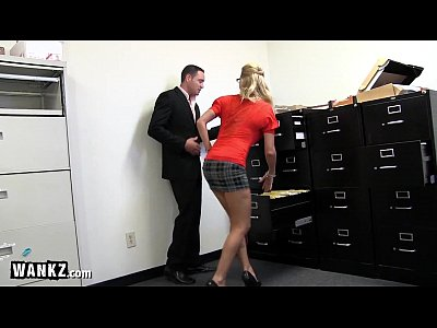 Squirting Sex Blonde video: WANKZ - MILF Slut Squirting All Over Her Office!
