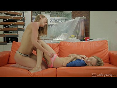 Teens Lesbians movie: Angel Piaff and Alexis Crystal at WebYoung