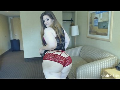 BBW Bounces Big Ass And Fucks With A Big Dildo - by Hayden Blue