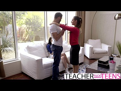 CASSIDY KLEIN MEGAN SAGE HOT TEACHER FUCKS STUD...