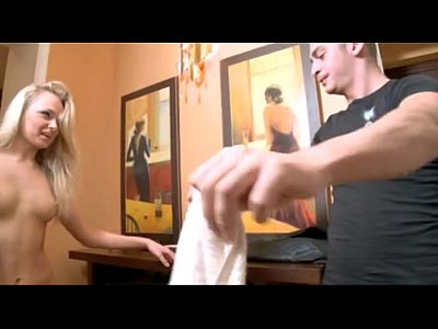 Blonde Babe Shower video: Perfect blonde step-sister surprised