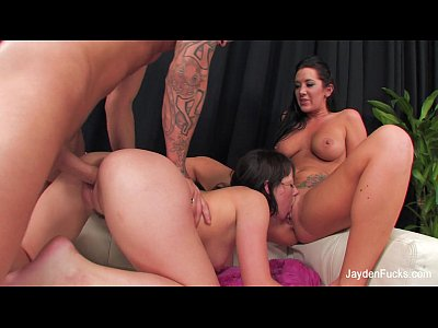Tits Pornstar Brunette video: Penny's Last 3some Fuck With Jayden Jaymes