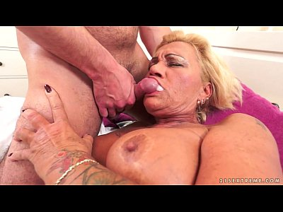 Hairy Blowjob Mature video: Hairy Granny Pussy Pounded