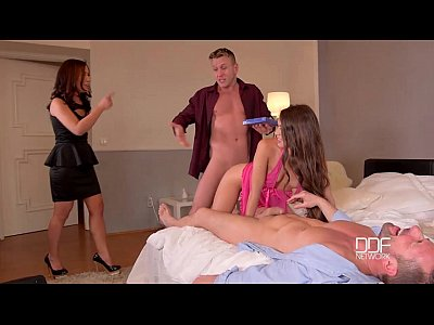 DDF Network - 2 Bros fuck a couple of super sex...