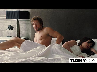 Blowjob Brunette Threesome video: TUSHY Two Pretty Teens Seduce One of Their Sisters Boyfriend