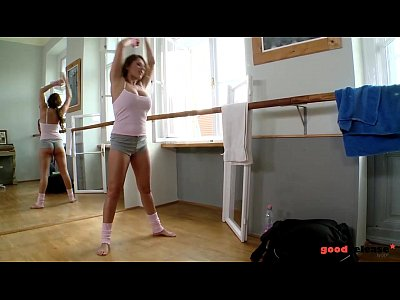 Teen Glamour Cum video: Big titty Ballerina fucked hardcore in Gym