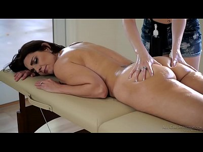 Lesbians Massage video: Stepdaughter does special massage on her Mom - Samantha Hayes, Mindi Mink
