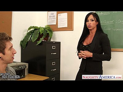 Stockings Lingerie Blowjob video: Beauty sex teacher Jewels Jade fucking in classroom