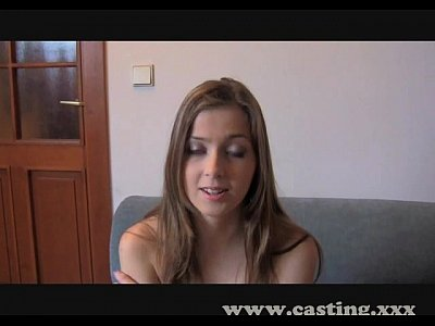 Casting First time creampie for innocent student
