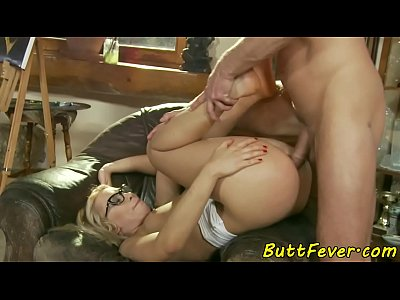 Spex babe assfucked passionately