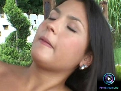 Blowjob Pornstar Cumshot video: Angelic Kelly finally fucked their garden boy outdoors