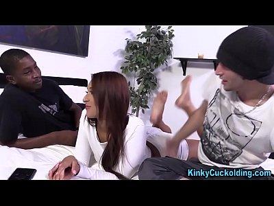 Hardcore Cuckold Femdom video: Wife gets fetish creampie