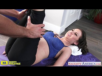 Blowjob Pornstar Brunette video: Small titted athlete Kendra Khaleesi take cock