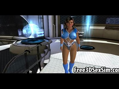 Jerry eagerly fucking two horny 3D toon space cadets