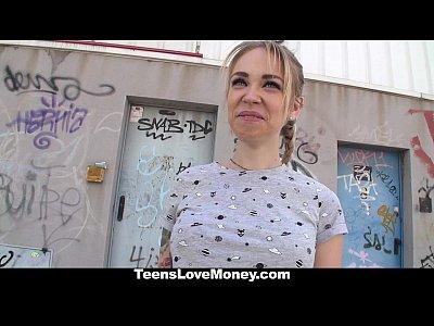Blonde Shaved Busty vid: TeensLoveMoney - Teen Will Fuck For Money