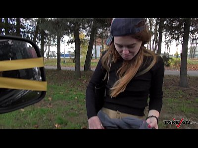 Czech Public Glamour video: Takevan - Hardest fuck ever made in van when driving with dirty speaking teen