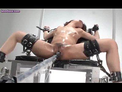 女をイカせ続けるとどうなるのか。専用の機械を使い一晩中高速ピストンさせた